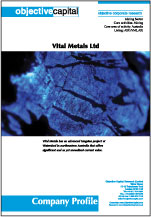 Read report on Vital Metals (VML.AX) - significant value to be realised in its Watershed project